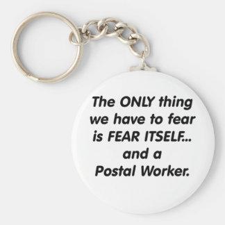 Fear postal worker keychain