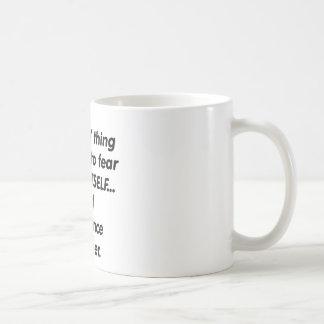 Fear science teacher coffee mug