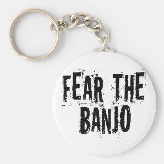 Fear The Banjo Basic Round Button Keychain
