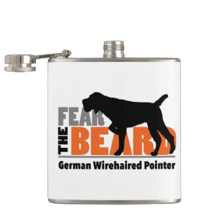 Fear the Beard - German Wirehaired Pointer Flasks