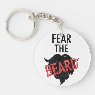 Fear the beard Single-Sided round acrylic keychain