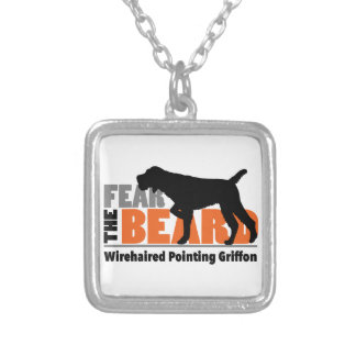 Fear the Beard - Wirehaired Pointing Griffon Silver Plated Necklace