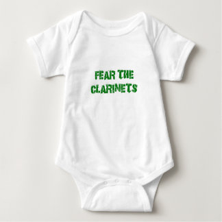 Fear the Clarinets Baby Bodysuit