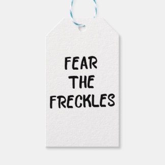 Fear the Freckles Gift Tags