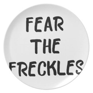 Fear the Freckles Plate