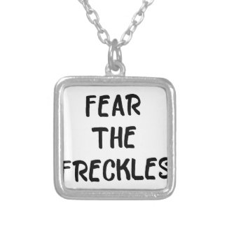 Fear the Freckles Silver Plated Necklace