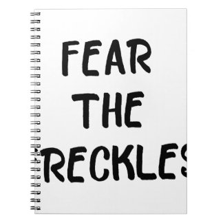 Fear the Freckles Spiral Notebook