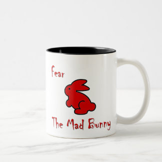 Fear The Mad Bunny Two-Tone Coffee Mug