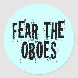 Fear The Oboes Sticker