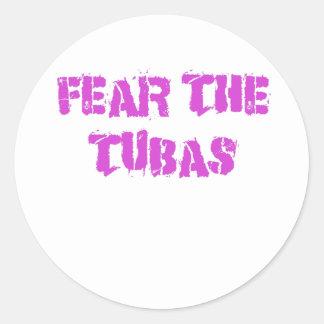 Fear the Tubas Classic Round Sticker