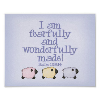 Fearfully and Wonderfully Made  8x10 Print - Blue