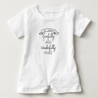 Fearfully and Wonderfully Made Handlettered Romper