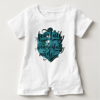 Fearfully and Wonderfully Made Psalm 139:14 Baby Romper