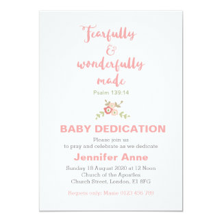 Fearfully & Wonderfully Baby Dedication Invite