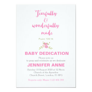 Baby Dedication Invitations Announcements Zazzle CA