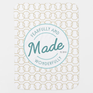 Fearfully & Wonderfully Made Vintage Stamp Baby Blanket