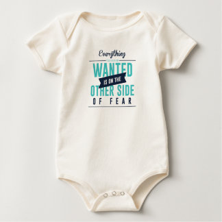 Fearless Courage Action Inspirational Design Baby Bodysuit