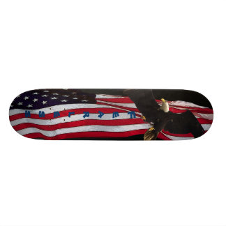 """Fearless"" Eagle/US Flag Skateboard"