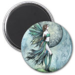 Fearless Gothic Fantasy Molly Harrison Fairy Art 2 Inch Round Magnet