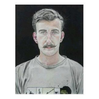 Fearless John - Watercolour Portrait Postcard