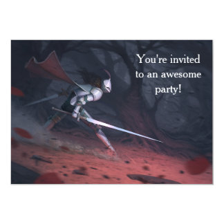 Fearless Knights' birthday party Card