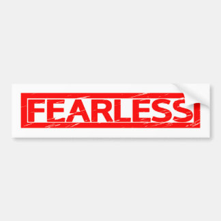 Fearless Stamp Bumper Sticker