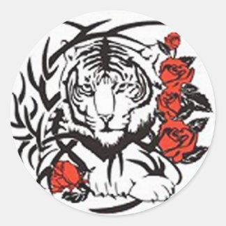 Fearless Tiger - Borderless Classic Round Sticker