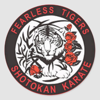 Fearless Tigers Shotokan Karate Logo Sticker