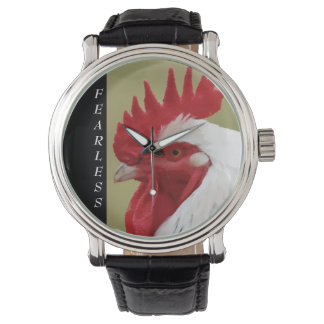 Fearless White Rooster  Watch