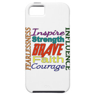 Fearlessness Courage Faith Etc Word Picture iPhone 5 Case