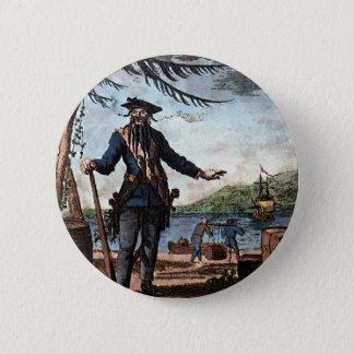 Fearsome Pirate Blackbeard! 2 Inch Round Button