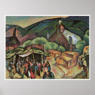Feast Day, San Juan Pueblo Poster