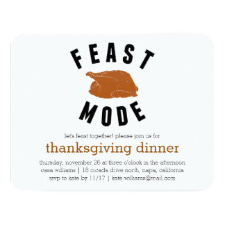 Feast Mode | Thanksgiving Turkey Dinner Card