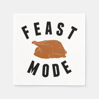 Feast Mode | Thanksgiving Turkey Disposable Napkins