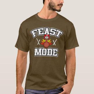 Feast Mode Turkey | Football Thanksgiving T-Shirt