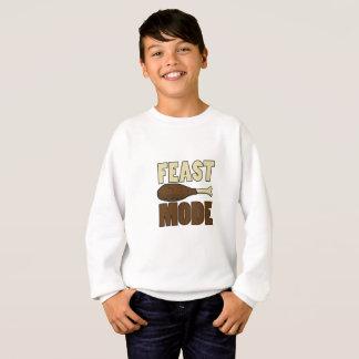 Feast Mode Turkey Leg Thanksgiving Funny Sweatshirt