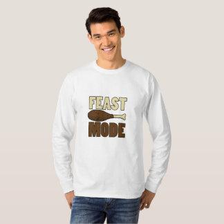 Feast Mode Turkey Leg Thanksgiving Funny T-Shirt
