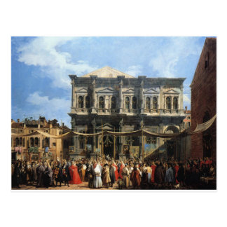 Feast of San Rocco by Canaletto Postcard