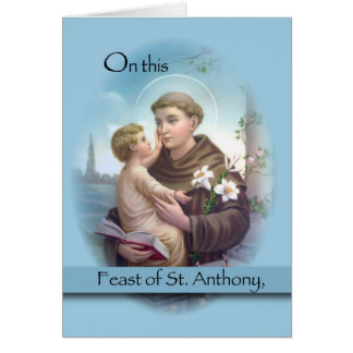 Feast of St. Anthony, Blue Card