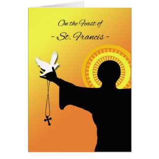 Feast of St. Francis Greeting Card, Silhouette Greeting Card