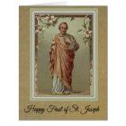 Feast of St. Joseph Card w/Memorare Prayer