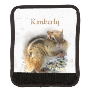 Feasting Chipmunk Animal Luggage Handle Wrap