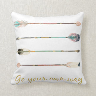 Feather Arrows Go Your Own Way Boho Tribal Pillow