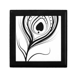 feather art design black fashion gift box