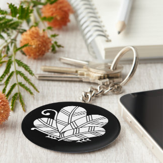 Feather butterfly of 鷹 basic round button keychain