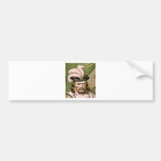 feather capped bearded man bumper sticker
