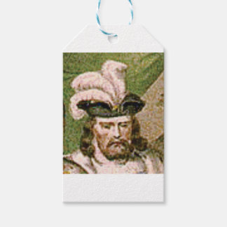 feather capped bearded man gift tags