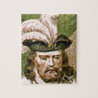 feather capped bearded man jigsaw puzzle