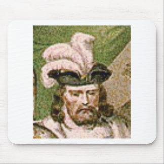 feather capped bearded man mouse pad
