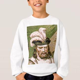 feather capped bearded man sweatshirt